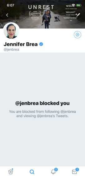 Brea blocked me