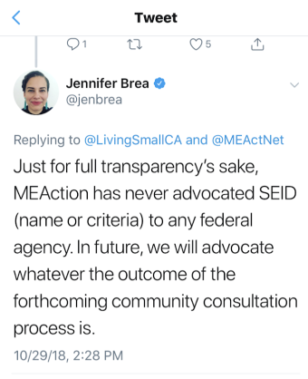 Brea tweet not advocating SEID